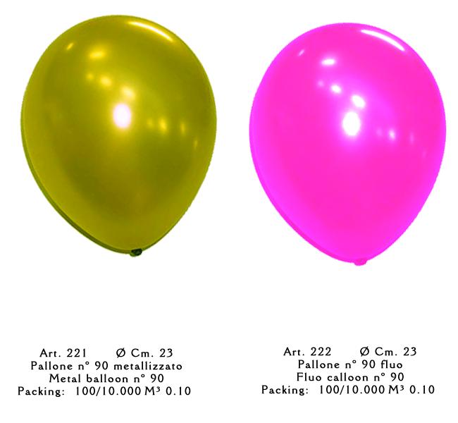 palloni sfusi fluorescenti